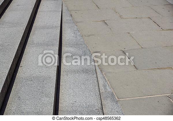 repères, pierre, diagonal, résumé, noir, escalier, photo, granit, ville, vu, souvent, étapes, monuments, large, escalier, escalier, blanc - csp48565362