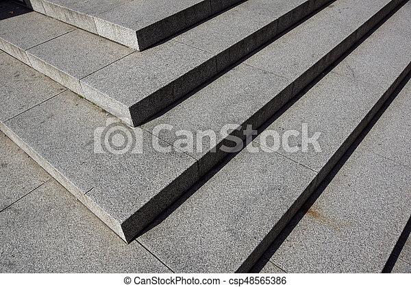 repères, pierre, diagonal, résumé, noir, escalier, photo, granit, ville, vu, souvent, étapes, monuments, large, escalier, escalier, blanc - csp48565386
