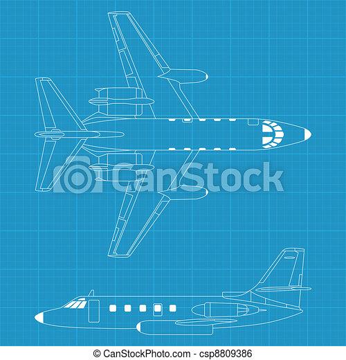repülőgép, modern, civil - csp8809386