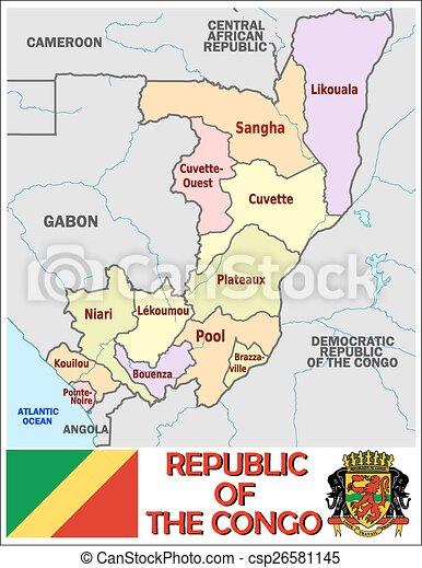 Rep congo administrative divisions Administrative divisions eps