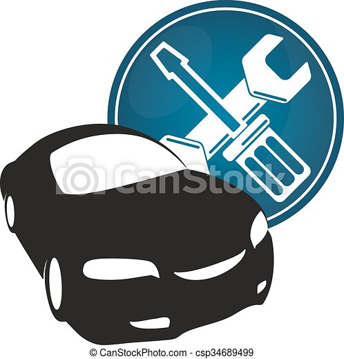 repair car car repair vector for a screwdriver and wrench eps rh canstockphoto ca