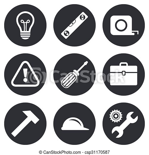 Repair Construction Icons Engineering Signs Repair Construction