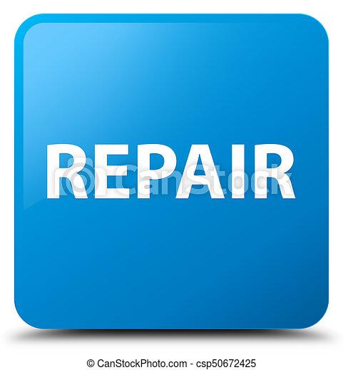 Repair cyan blue square button - csp50672425