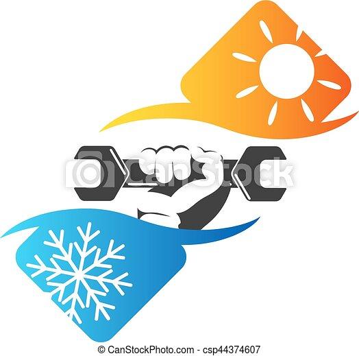 Repair Of Air Conditioner Repair Air Conditioner Symbol Wrench In