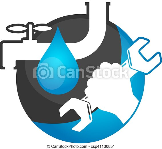 repair plumbing and sanitary ware plumbing wrench in a hand rh canstockphoto com plumbing clip art photos plumbing clip art photos