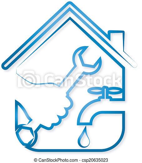 repair plumbing vector design for repair plumbing home vector rh canstockphoto ie plumbing clip art images for flyers plumbing clipart images