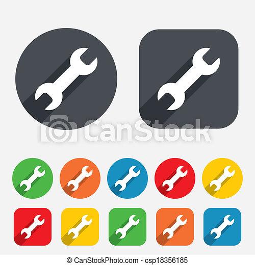 Repair tool sign icon. Service symbol. - csp18356185