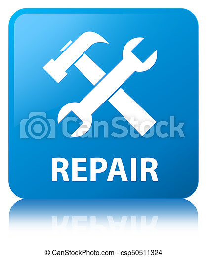 Repair (tools icon) cyan blue square button - csp50511324