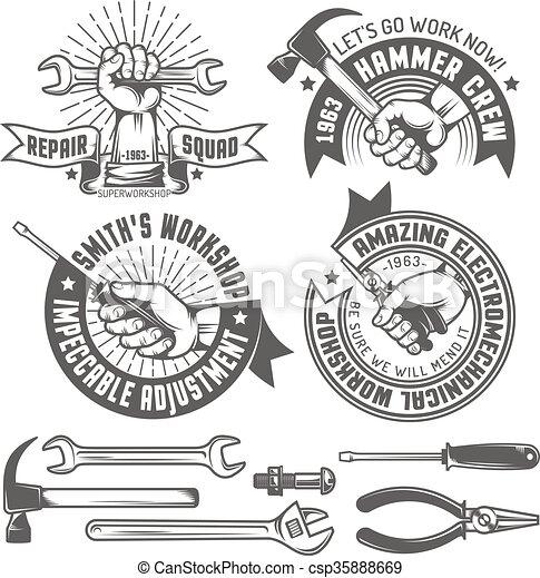 Repair workshop - csp35888669