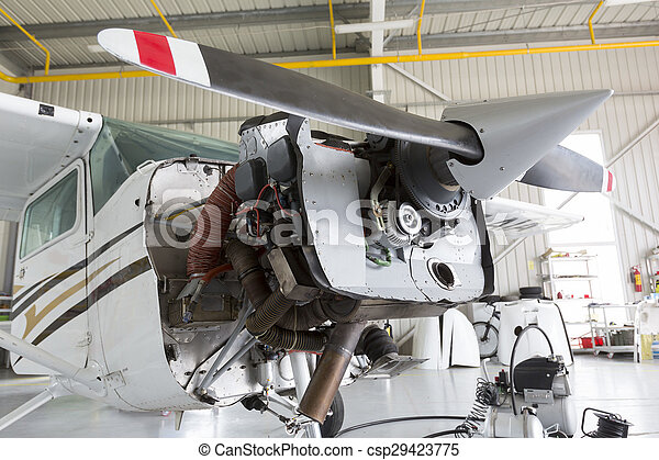 Repairing small propeller airplane - csp29423775