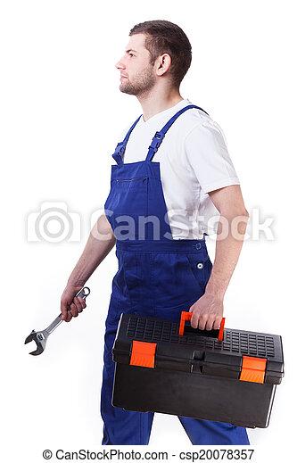 repairman, 側視圖 - csp20078357