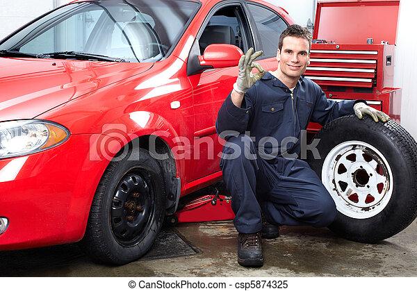 reparación automóviles - csp5874325