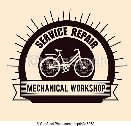 Servicio de reparación de bicicletas - csp64346962