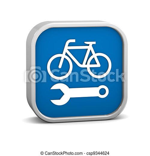 Signo de reparación de bicicletas - csp9344624