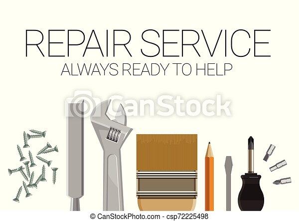 La plantilla de correos para los servicios de reparación de hogares. - csp72225498