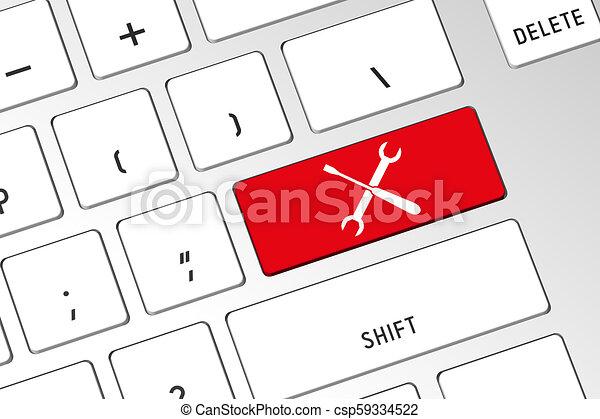 Reparación - teclado de computadora 3D - csp59334522