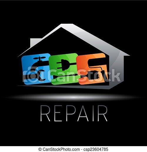 Diseño para reparar casas - csp23604785