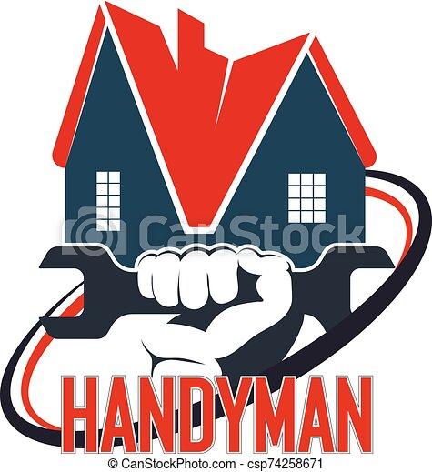 reparación, factótum, hogar, símbolo - csp74258671