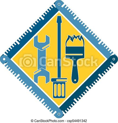 El símbolo de reparación de herramientas - csp54491342