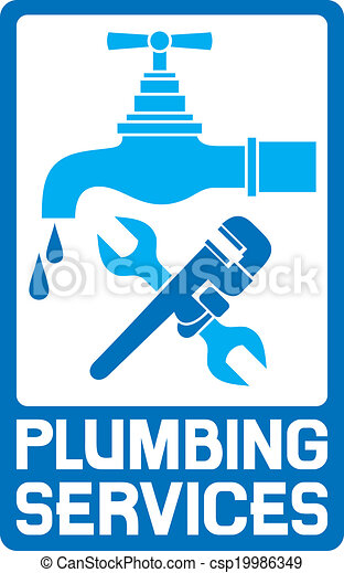 El símbolo de la fontanería - csp19986349