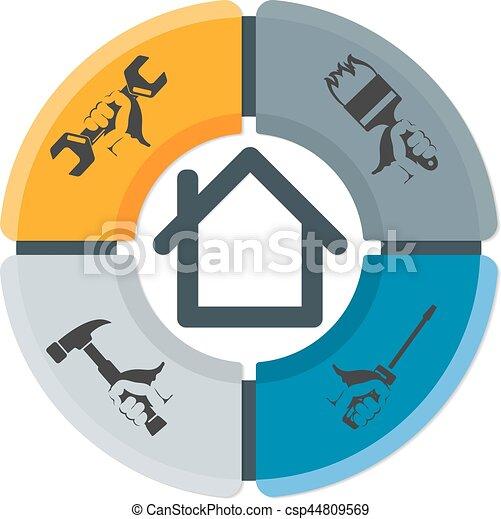 Simbolo de reparación de negocios - csp44809569