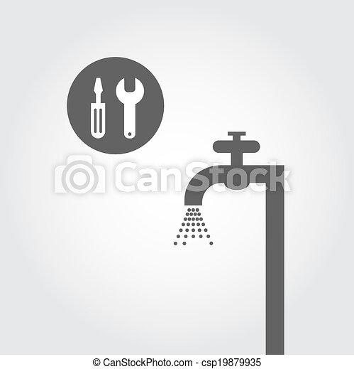 El símbolo de la fontanería - csp19879935