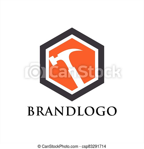 reparación, símbolo, plantilla, vector, hogar, logotipo - csp83291714
