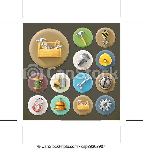 Servicio y reparar iconos - csp29302907