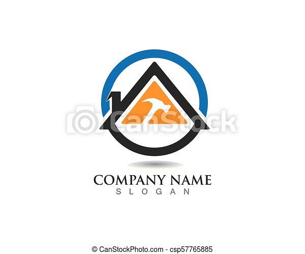 Reparar Propiedades y Diseño de Logo de Construcción para el letrero empresarial - csp57765885