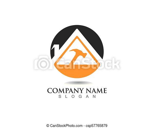 Reparar Propiedades y Diseño de Logo de Construcción para el letrero empresarial - csp57765879