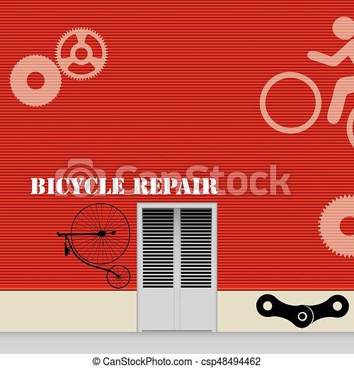 Taller de reparación de bicicletas - csp48494462