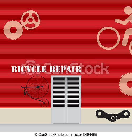 Taller de reparación de bicicletas - csp48494465