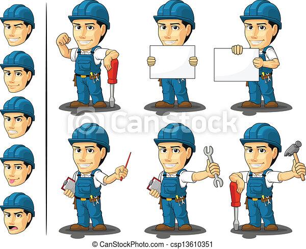La mascota del técnico o reparador - csp13610351