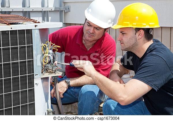 reparar, aprendizagem, condicionamento, ar - csp1673004
