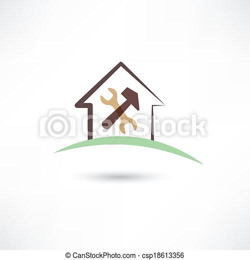 reparar, casa - csp18613356