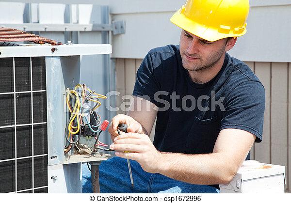 reparar, condicionamento, ar - csp1672996