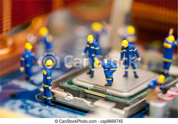 reparatur, begriff, edv - csp9669745