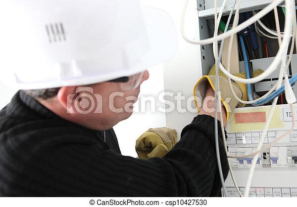 Elektrische Reparatur elektrischer Zähler - csp10427530