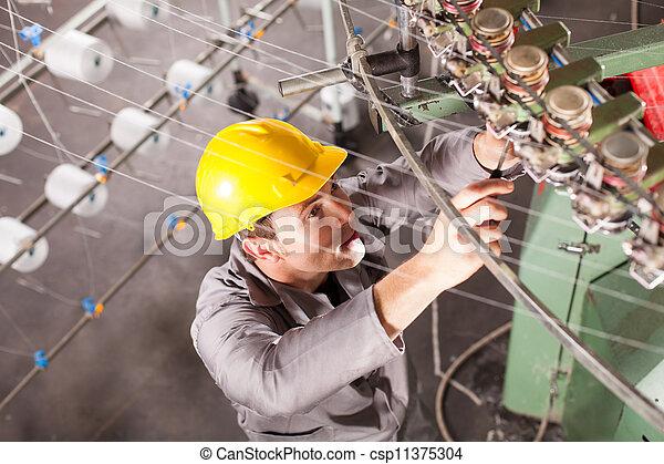 reparatur, techniker, gewebe, firma - csp11375304