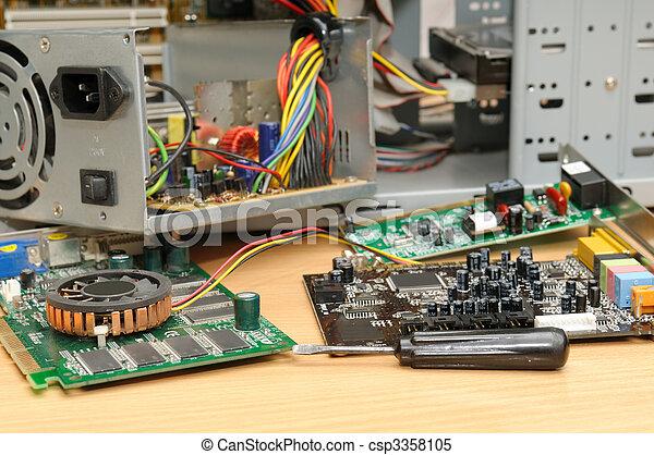 reparera, dator - csp3358105