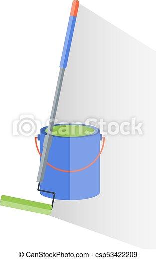 reparera, verktyg, hink, målning, färg - csp53422209