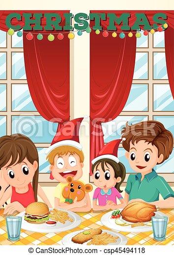 Repas no l sc ne famille avoir famille avoir sc ne - Repas de noel enfant ...