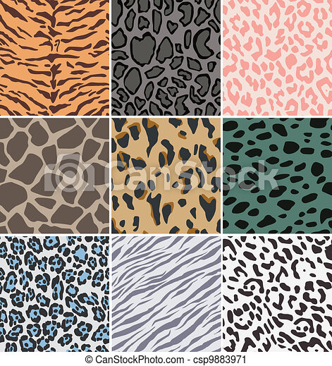 repeated animal skin print - csp9883971