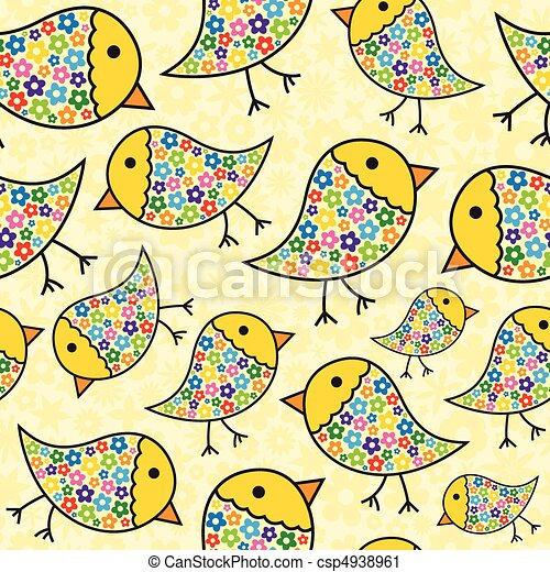 Repeating Chick Background - csp4938961