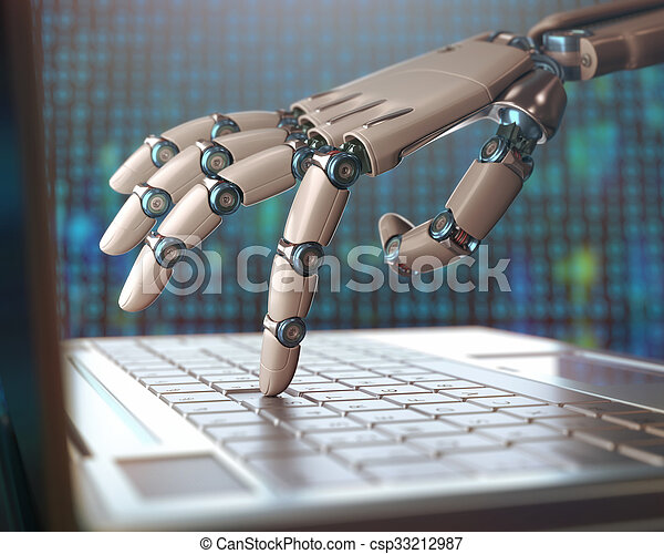 Replacement Of Humans By Machines - csp33212987