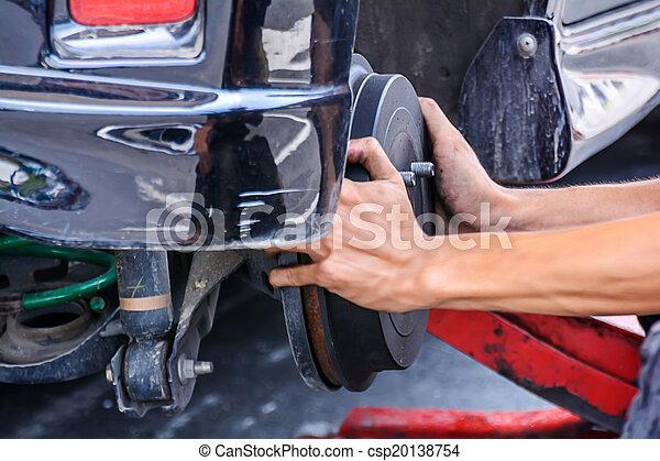 Replacing brakes vehicle - csp20138754