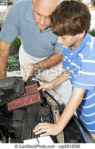 Replacing Dirty Air Filter - csp5612595