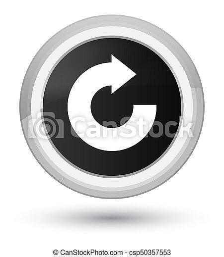 Reply arrow icon prime black round button - csp50357553