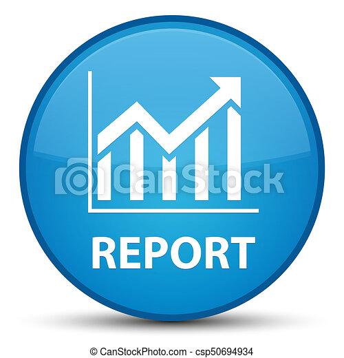 Report (statistics icon) special cyan blue round button - csp50694934