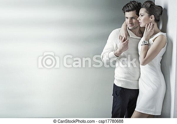 reposer, décontracté, couple, endroit, calme - csp17780688